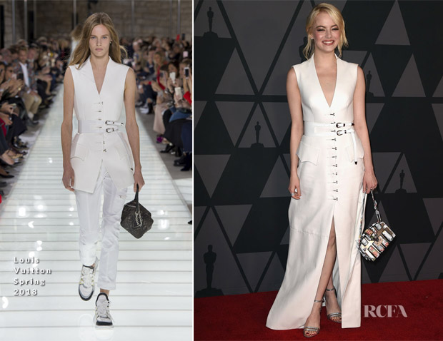 Emma Stone LV - How to Hold Your Handbag Like a Celebrity