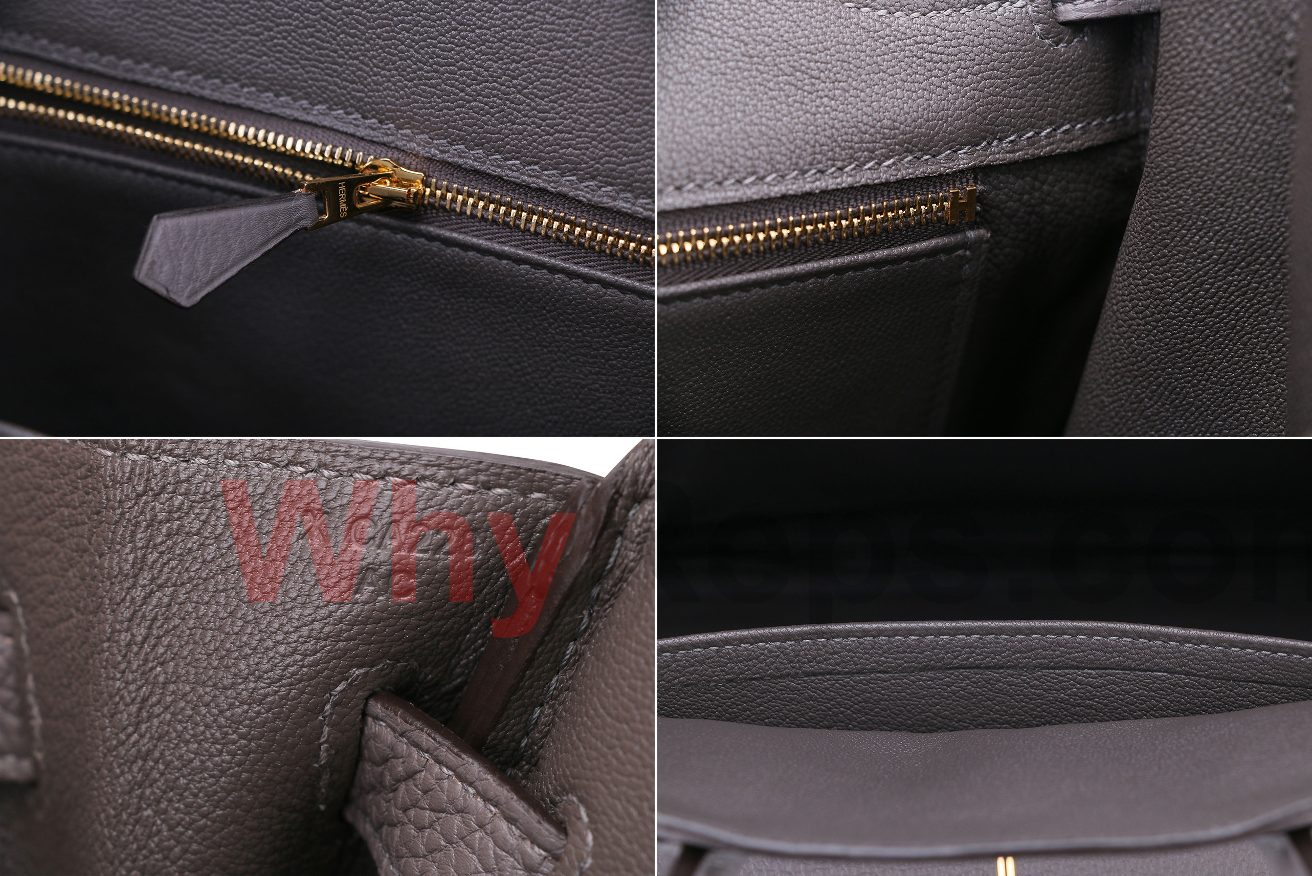 Hermes Birkin interior zipperH end artisan ID chevre leather - Who Sells the Best Hermes Replica? (An In-Depth Review on Fake Birkin)
