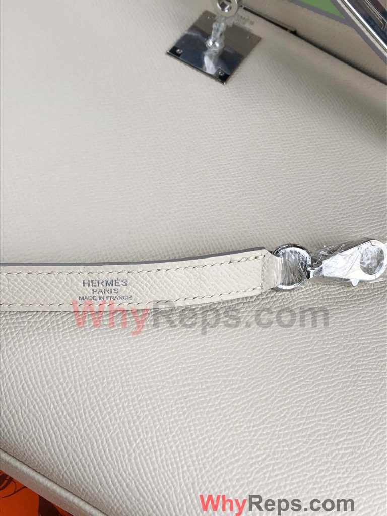 LOGO 3 768x1024 - Hermes Kelly 28 Bag Replica Review (Craie Epsom PHW)
