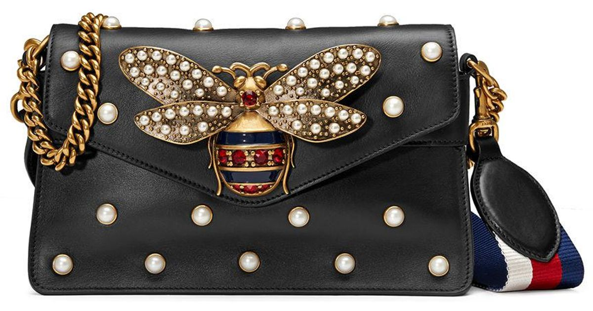 gucci BLACK Broadway Pearly Bee Shoulder Bag - Is the Replica Handbags Industry Really that Bad?
