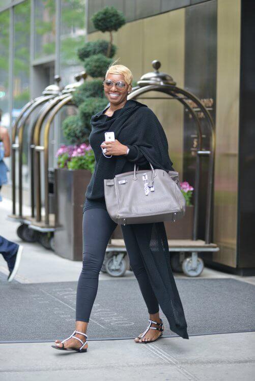 nene leakes carries grey birkin - 10 Celebrities Who Wear Hermes Birkin Bags